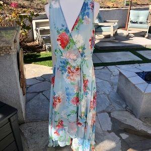NWT Calvin Klein Blue Floral Dress